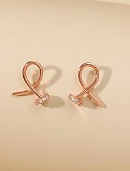 cheap -Women's Earrings Geometrical Simple Earrings Jewelry Silver / Gold Infinity For Street