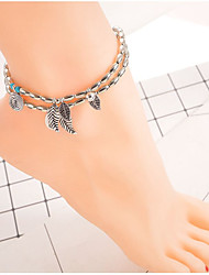 cheap -Anklet Vintage Women's Body Jewelry For Holiday Festival Alloy Silver 1pc