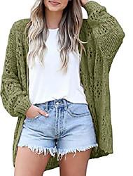 cheap -amazon 2021 new women's crochet cardigan long-sleeved lightweight loose cardigan sweater in stock