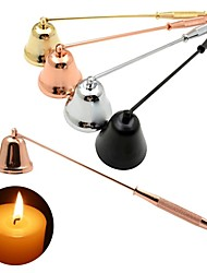 cheap -Stainless Steel Smokeless Candle Wick Bell Snuffer Home Hand Put Off Tool Kit Candle Accessories Holders