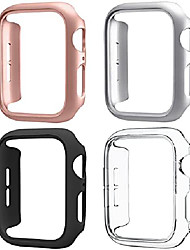 cheap -Smart watch Case 4 pack compatible for apple watch case 40mm series 6 5 4 se, hard pc bumper case protective cover frame compatible for iwatch 40mm, black/rose gold/silver/clear
