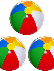 cheap -Beach Ball 3 Pack 20 Large Inflatable Beach Balls for Kids Beach Toys for Kids & Toddlers Pool Games Summer Outdoor Activity Classic Rainbow Color