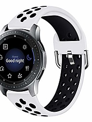 cheap -smartwatch band compatible with samsung galaxy watch 46 mm / gear s3 classic / huawei watch gt 2 watch band, quick release, soft silicone, sports band 91002 (size s, # 11)