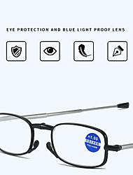 cheap -Antenna Reading Glasses for Men aAnd Women Compact Anti-blue Reading Reading Glasses Folding Ultra-light Fashion Portable Mini Telescopic Leg Glasses