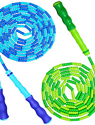 cheap -Jump Rope for Kids Adults - Adjustable Soft Beaded Skipping Rope for Men Women Kids Fitness,Keeping Fit,Training,Workout,Weight Loss,2 Pack 9 Feet Blue & Green Ropes