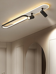 cheap -LED Ceiling Light With Spot Light Modern Black Gold 60/100 cm Circle Design Flush Mount Lights Metal Artistic Style Modern Style Stylish Painted Finishes 110-120V 220-240V
