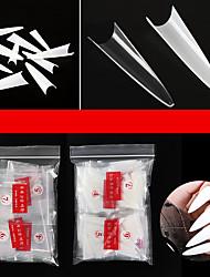 cheap -500 Pcs False Nail Tips with 10 Sizes Nail Tips Stiletto French Acrylic Fake Nails ABS Tips Artificial 0 -9 Nail Art Tips