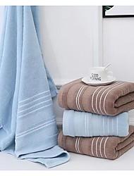 cheap -2PCS New Solid Color Stripe Thick 100% Cotton Jacquard Bath Towel Soft Absorbent Cotton Towel Unisex