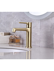 cheap -Bathroom Sink Faucet - Classic Nickel Brushed / Electroplated / Painted Finishes Mount Outside Single Handle One HoleBath Taps