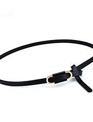 cheap -Women's Waist Belt Daily Sports Dress Work Dark Blue Dark Red Belt Solid Color / Black / White / Brown