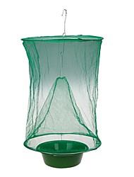 cheap -1PCS Hanging Flycatcher Fly Killer Flies Trap Cage Subnet Capture Reusable Pest Detector Home Outdoor Garden Supplies
