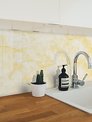 cheap -Hard Piece Marble Tile Sticker Yellow Granite Wallpaper Self-adhesive Wall Sticker Removable Waterproof Sticker Home Kitchen Bathroom Yellow Marble Wallpaper