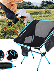 cheap -Camping Chair with Cup Holder with Side Pocket Portable Ultra Light (UL) Foldable Comfortable Mesh 7075 Aluminium Alloy for Camping / Hiking Fishing Beach Outdoor Autumn / Fall Spring Blue Red Orange