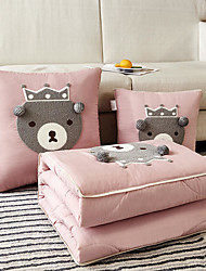 cheap -Pillow Quilt Four Seasons Multifunction Little Bear Car Purpose Throw Cushion Office Nap Pillow Folding Blanket Sofa Pillow Air Conditioning Quilt Unfold Size 105*145cm Bedroom Living Room