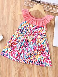 cheap -Baby Girls' Basic Polka Dot Print Sleeveless Dress Purple