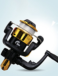 cheap -Fishing Reel Spinning Reel 5.2:1 Gear Ratio 3 Ball Bearings Ultra Smooth for Freshwater and Saltwater / Sea Fishing / Carp Fishing / Powerful