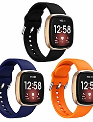 cheap -Smart watch band 3 pack bands compatible with fitbit versa 3 & sense, soft silicone replacement watch strap wristband accessories for fitbit versa 3/sense