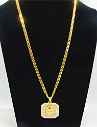 cheap -Men's Boys' Long Necklace Precious Trendy Alloy Gold 75 cm Necklace Jewelry For Street