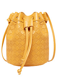 cheap -Women's Bags PU Leather Crossbody Bag Plain Classic Fashion Shopping Daily 2021 Black Yellow Blushing Pink Orange