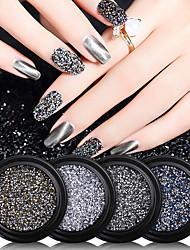 cheap -4 pcs Nail Art New York Storm Micro Diamonds Mixed Nail Stickers Diamond Crushed Stone Crystal Sand Nail Art Jewelry Net Red Diamonds