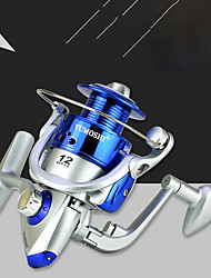 cheap -Fishing Reel Spinning Reel 5.5:1 Gear Ratio 12 Ball Bearings Ultra Smooth for Freshwater and Saltwater / Sea Fishing / Carp Fishing / Powerful