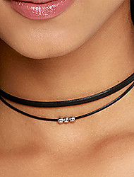 cheap -Women's Necklace Classic Artistic Simple Elegant European PU Leather Black 35-40 cm Necklace Jewelry 1pc For Street Sport Masquerade Birthday Party