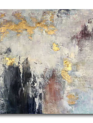 cheap -Oil Painting Handmade Hand Painted Wall Art Abstract Modern Golden Grey Black Home Decoration Dcor Stretched Frame Ready to Hang