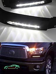cheap -OTOLAMPARA Super Bright Lightnes Daytime Running Lights For Toyota Tundra LED DRL 2008-2013 Year Super Lightness 10W COB DRL Lamp 6000K White Color with Black Shell