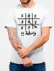 cheap -Men's Unisex Tee T shirt Hot Stamping Graphic Prints Clock Plus Size Print Short Sleeve Casual Tops Cotton Basic Fashion Designer Big and Tall White