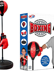cheap -Punching Bag and Boxing Gloves Set for Kids - Freestanding Base Punching Ball with Spring Loaded Height Adjustable Stand Junior Boxing Gloves and Hand Pump