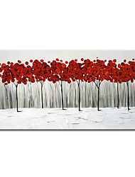 cheap -Oil Painting Handmade Hand Painted Wall Art Mintura Knife Abstract Red Trees Landscape Home Decoration Decor Rolled Canvas No Frame Unstretched