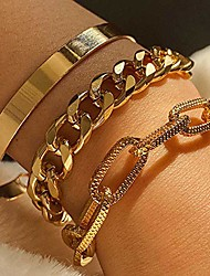 cheap -derora punk layered finger ring bracelet gold stacking hand bracelet chain jewelry for women and girls(pack of 3) (type 1)