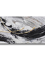 cheap -Oil Painting Handmade Hand Painted Wall Art Abstract Black Grey Home Decoration Dcor Stretched Frame Ready to Hang