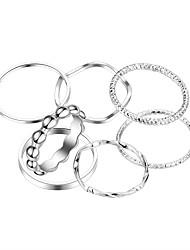cheap -Ring Set 7pcs Silver Alloy Elegant Fashion One Size