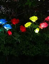 cheap -Outdoor Solar Lights Outdoor Light Solar LED Lawn Lamp Rose Shape Waterproof Lawn Lights Wedding Garden Patio Decoration Trail LED Landscape Lamp LED Solar Garden Light