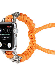 cheap -Smart Watch Band for Apple iWatch 1 pcs Weave Bracelet Nylon Zinc alloy Replacement  Wrist Strap for Apple Watch Series 7 / SE / 6/5/4/3/2/1
