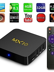 cheap -Android 9.0 TV Box MX10 4K New Design 4K Support H.265 Cortex-A53 4GB 64GB 32GB