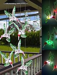 cheap -Outdoor Solar Lights Outdoor Waterproof Solar Colorful Wind Chime Lamp Hummingbird Shape Pendant LED Night Light Courtyard Garden Patio Window Decorative Colorful Lamp LED Solar Garden Light