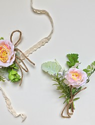 """cheap -Wedding Flowers Boutonnieres / Wrist Corsages Event / Party / Wedding Party Artificial Flower 2.76""""(Approx.7cm) / 5.51""""(Approx.14cm)"""