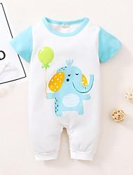 cheap -Baby Girls' Active Print Print Short Sleeves Romper White