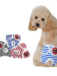 cheap -Dog Cat Pants Striped Elegant Adorable Cute Dailywear Casual / Daily Dog Clothes Puppy Clothes Dog Outfits Breathable Red Black Blue Costume for Girl and Boy Dog Cotton S M L XL XXL