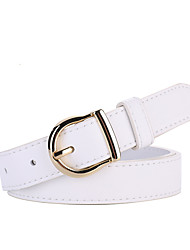 cheap -Women's Waist Belt Daily Dress Work Black White Belt Solid Color / Brown / Winter / Spring / Summer