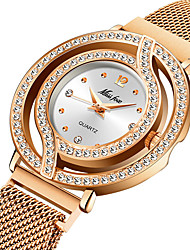 cheap -diamond-studded waterproof ladies watch with magnet magnet mesh belt