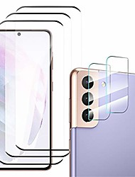 cheap -Phone Screen Protector For SAMSUNG S21 S21 Plus S21 Ultra S20 S20 Plus Tempered Glass 5 pcs High Definition (HD) Scratch Proof Front & Camera Lens Protector Phone Accessory