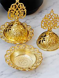cheap -middle eastern style small mini arabian incense burner gold iron art metal incense burner desktop decoration one piece shipment