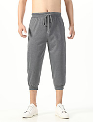 cheap -Men's Sports & Outdoors Casual / Sporty Active Chinos Pants Solid Color Light gray Black Dark Gray