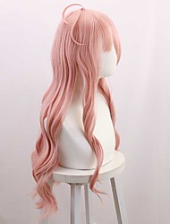 cheap -halloweencostumes new · danganronpa v3 into the beautiful rabbit pink micro-curly long hair cos anime wig high temperature wire