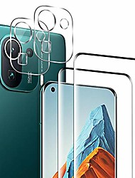 cheap -Phone Screen Protector For Xiaomi Mi 11 Redmi Note 9T Poco X3 NFC Redmi 9T Mi 10 Tempered Glass 4 pcs High Definition (HD) Scratch Proof Front & Camera Lens Protector Phone Accessory