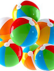 cheap -Inflatable Beach Balls Jumbo 24 inch Pool Balls Beach Summer Parties and Gifts  12 Pack Blow up Rainbow Color Beach Ball (12 Balls)