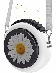 cheap -Youpin Mini Neck Hanging Fan 3 Speed Small Portable Fan Battery Operated Personal Table Fan Summer With An Adjustable Lanyard